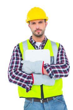 handyman holding clipboard