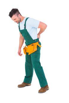 Carpenter suffering from backache