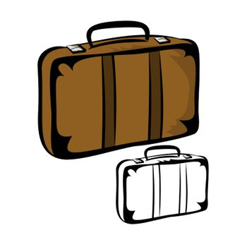 Vector illustration : Travel Suitcase on a white background.