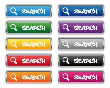 Search metallic rectangular buttons