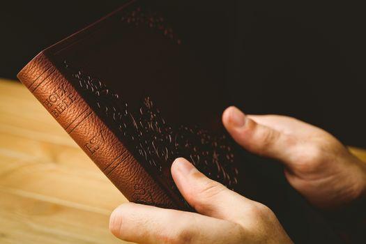 Man praying with his bible
