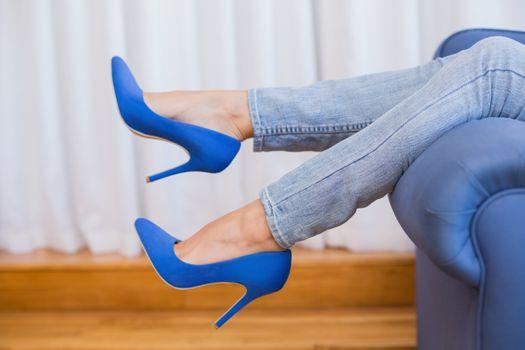 Womans legs in high heels