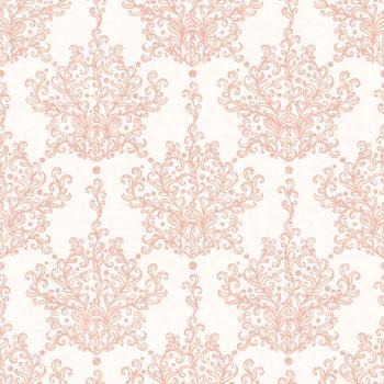 Vintage vector botanical damask seamless pattern background graphic design