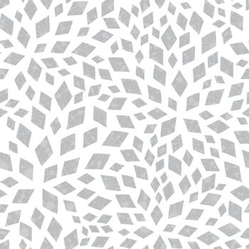 Abstract vector silver textured mosaic tiles seamless pattern background graphic design