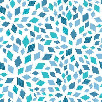 Abstract vector blue mosaic texture seamless pattern background graphic design