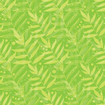 Vector green leaves seamless pattern background graphic design