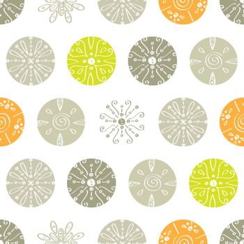 Vector abstract gray and green polka dot seamless pattern background graphic design