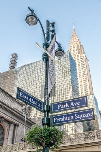 Buildings of Midtown Manhattan at Grand Central Intersection