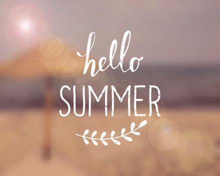 Typographic Summer Blurred Background Design