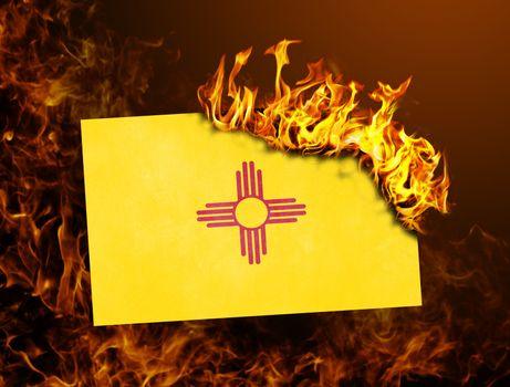 Flag burning - New Mexico