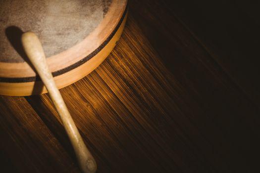 Traditional Irish bodhran and stick
