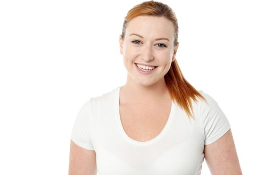 Smiling young woman casual pose