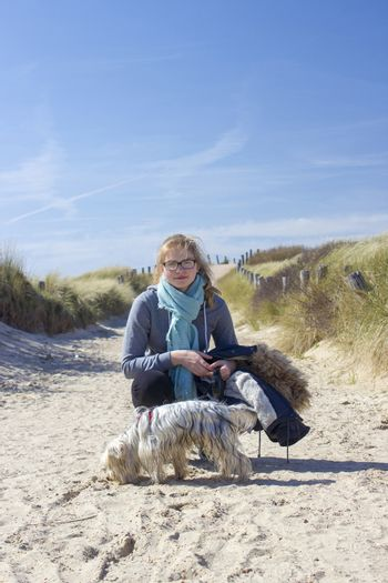 Walking with the dog in the dunes, Zoutelande, Netherlands