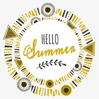 Tribal Frame Typographic Summer Design