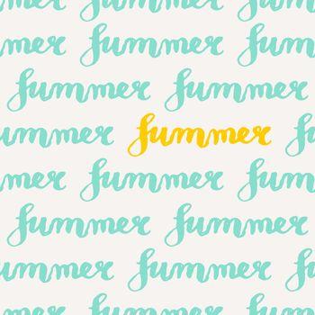Typographic Design Summer Seamless Pattern