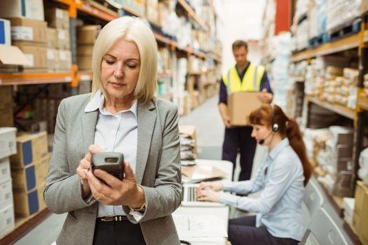 Focused warehouse manager using handheld