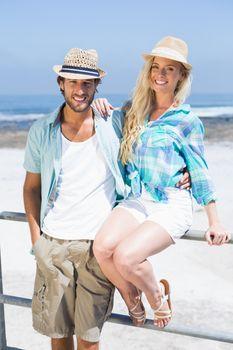 Cute couple on the promenade
