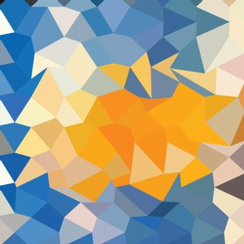 Low polygon style illustration of azure blue abstract geometric background.