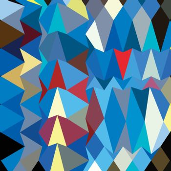 Low polygon style illustration of a blue sapphire abstract geometric background.