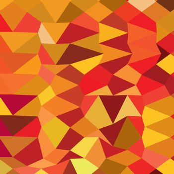 Low polygon style illustration of coquelicot red abstract geometric background.