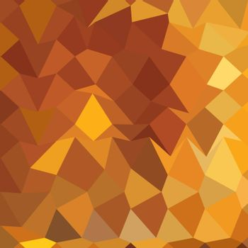 Low polygon style illustration of a gamboge yellow abstract geometric background.