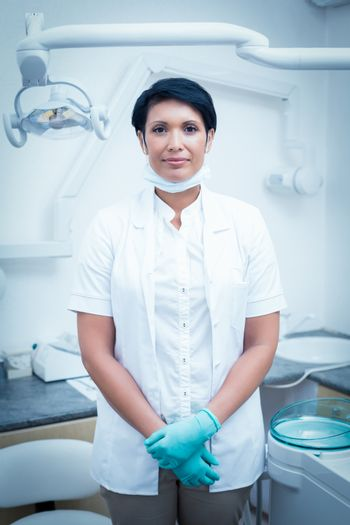 Portrait of confident female dentist