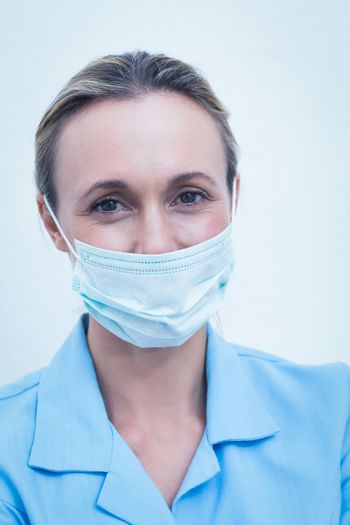 Portrait of female dentist wearing surgical mask