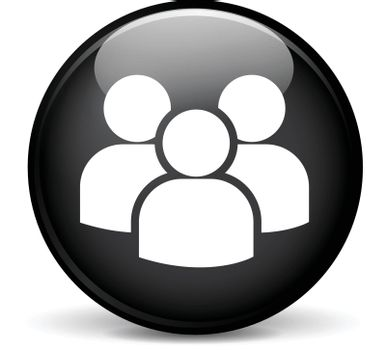 Illustration of group modern design black sphere icon