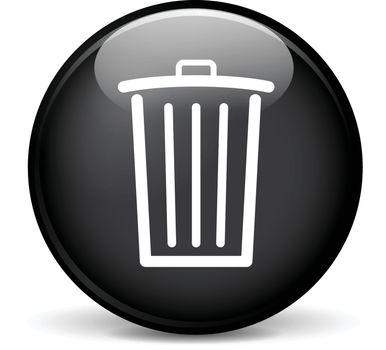 Illustration of delete modern design black sphere icon