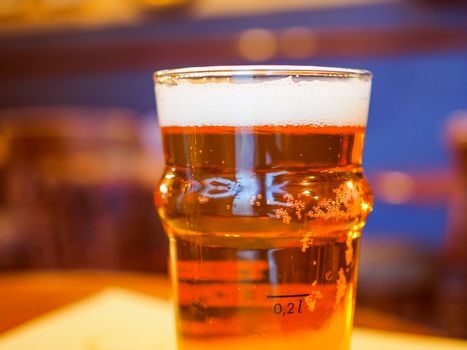 Retro look Pint of British ale beer