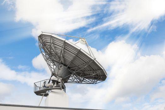 Telecommunications radar parabolic radio antenna