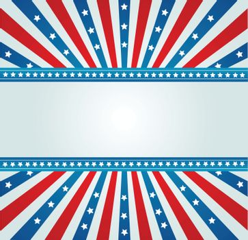 Old American flag banner