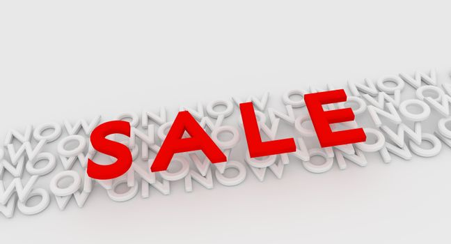 """Illustrated image of the word  Sale with the words """"Now On"""" underneath"""