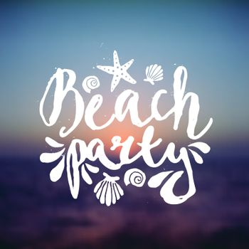 Beach Party Hand Lettered Design