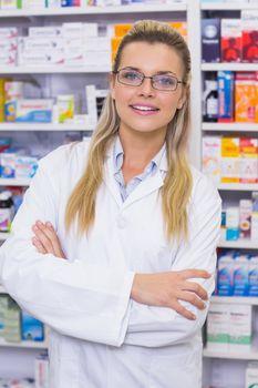 Pharmacist smiling at camera
