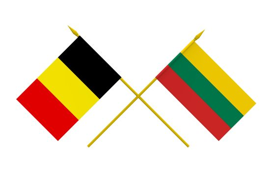 Flags, Belgium and Lithuania