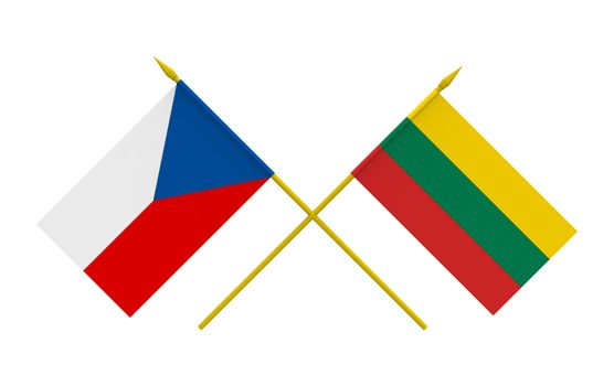 Flags, Czech and Lithuania