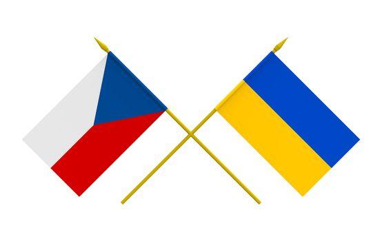 Flags, Czech and Ukraine