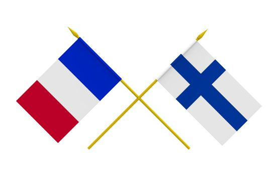 Flags, Finland and France