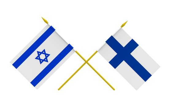 Flags, Finland and Israel