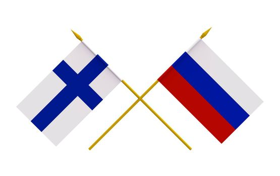 Flags, Finland and Russia