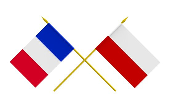 Flags, France and Poland