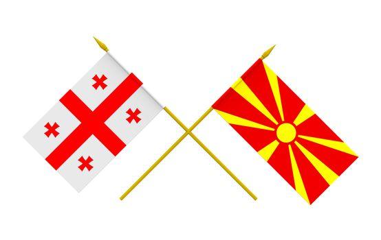 Flags, Georgia and Macedonia