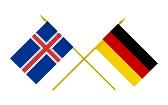 Flags, Germany and Iceland
