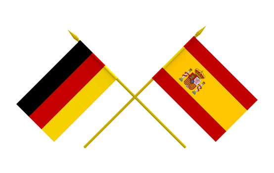 Flags, Germany and Spain