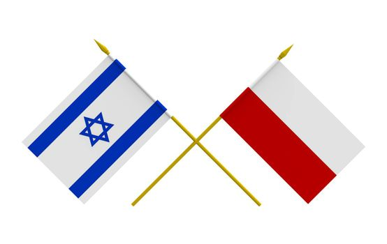 Flags, Israel and Poland