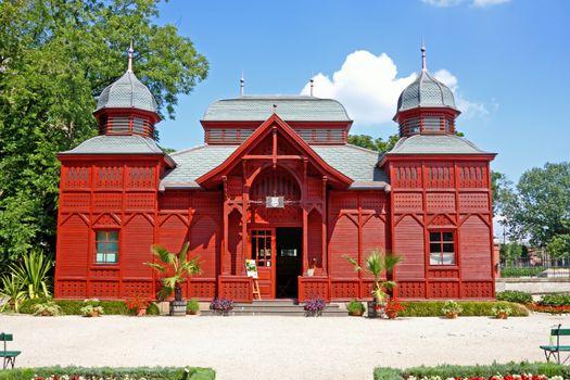 Exhibition pavilion of the Botanical garden in Zagreb, Croatia
