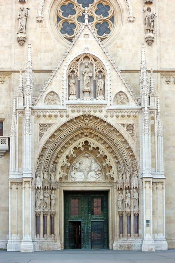 Detail of the Cathedral in Zagreb, Croatia