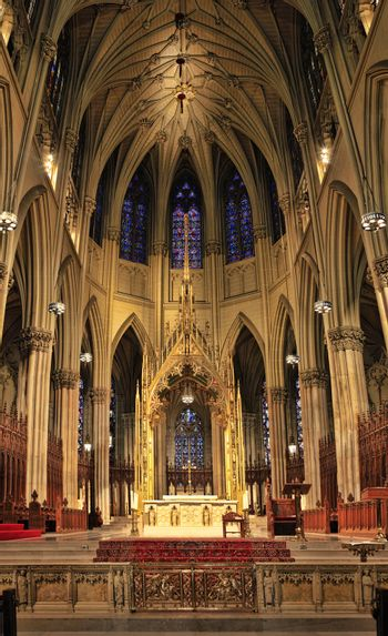 Ceiling Cathedral of St. Patrick, Manhattan, NYC