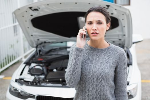 Desperate woman calling for assistance after breaking down
